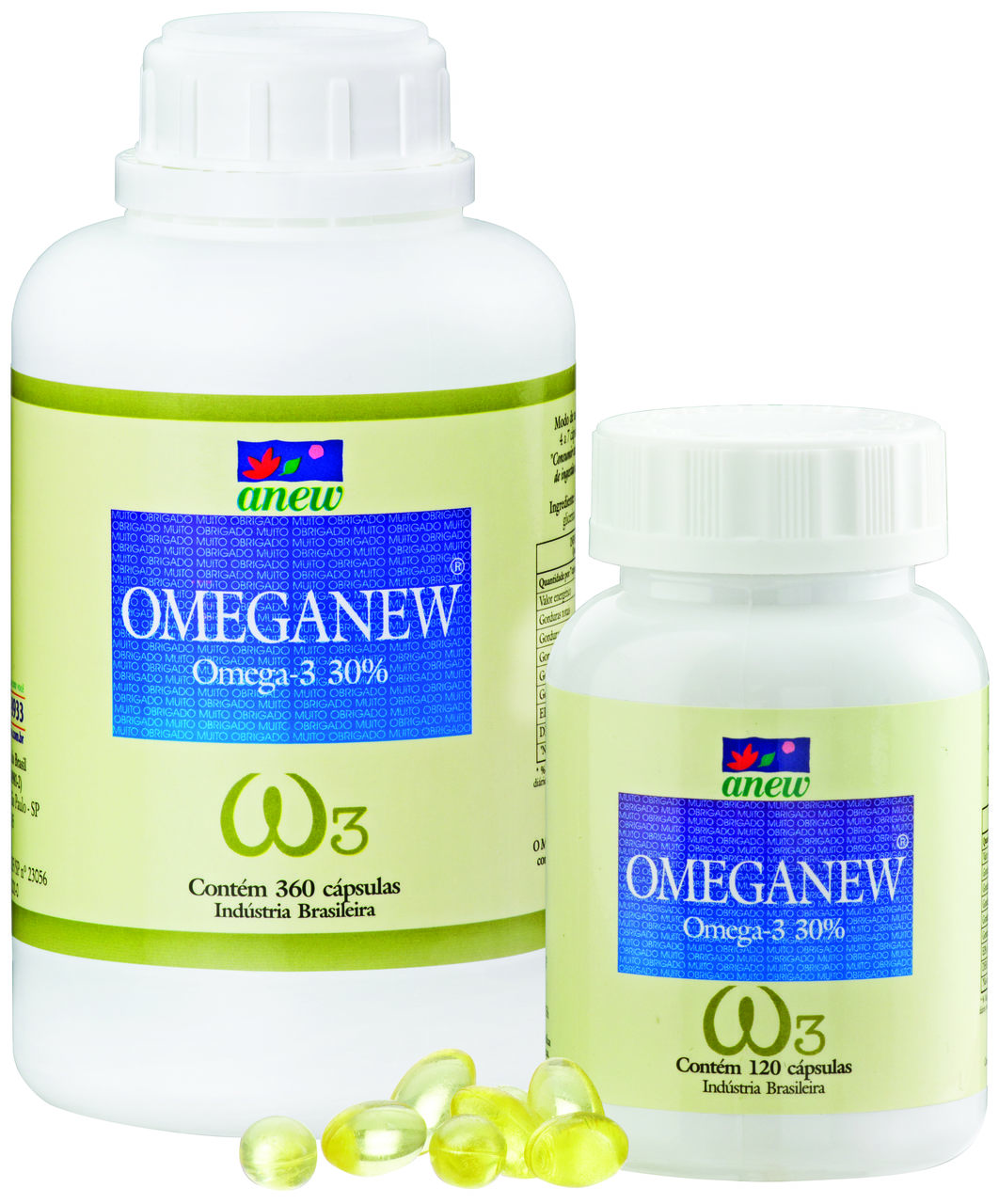 Ômega 3 Omeganew 120 Cáps.  100% Óleo de Peixe