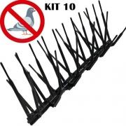 10 Espículas Anti Pombos Repelente Espanta Fácil Instalação