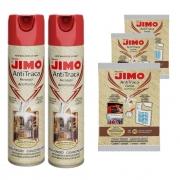 Kit 2 Anti Traça Jimo 300ml + 3 Cartelas Anti Traça Jimo