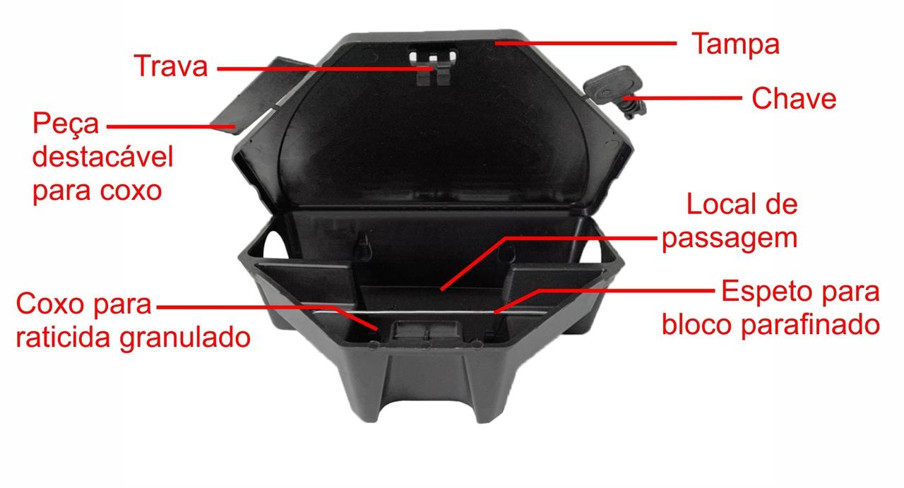 1 Porta Isca + 5 Blocos Parafinados Armadilha Para Rato  - Ul Brasil