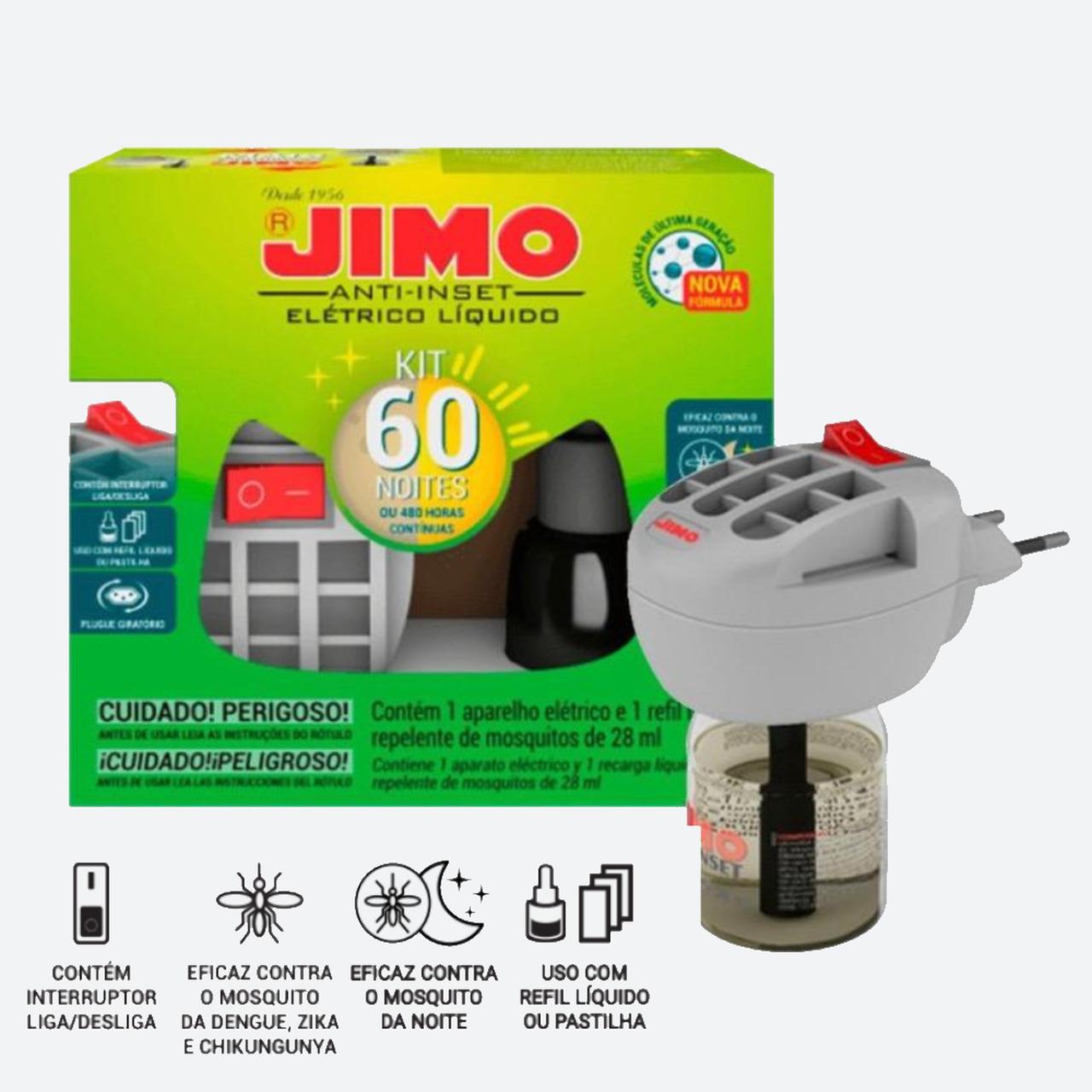 Jimo Anti-inset Elétrico Líquido Com Refil Bivolt  - Ul Brasil