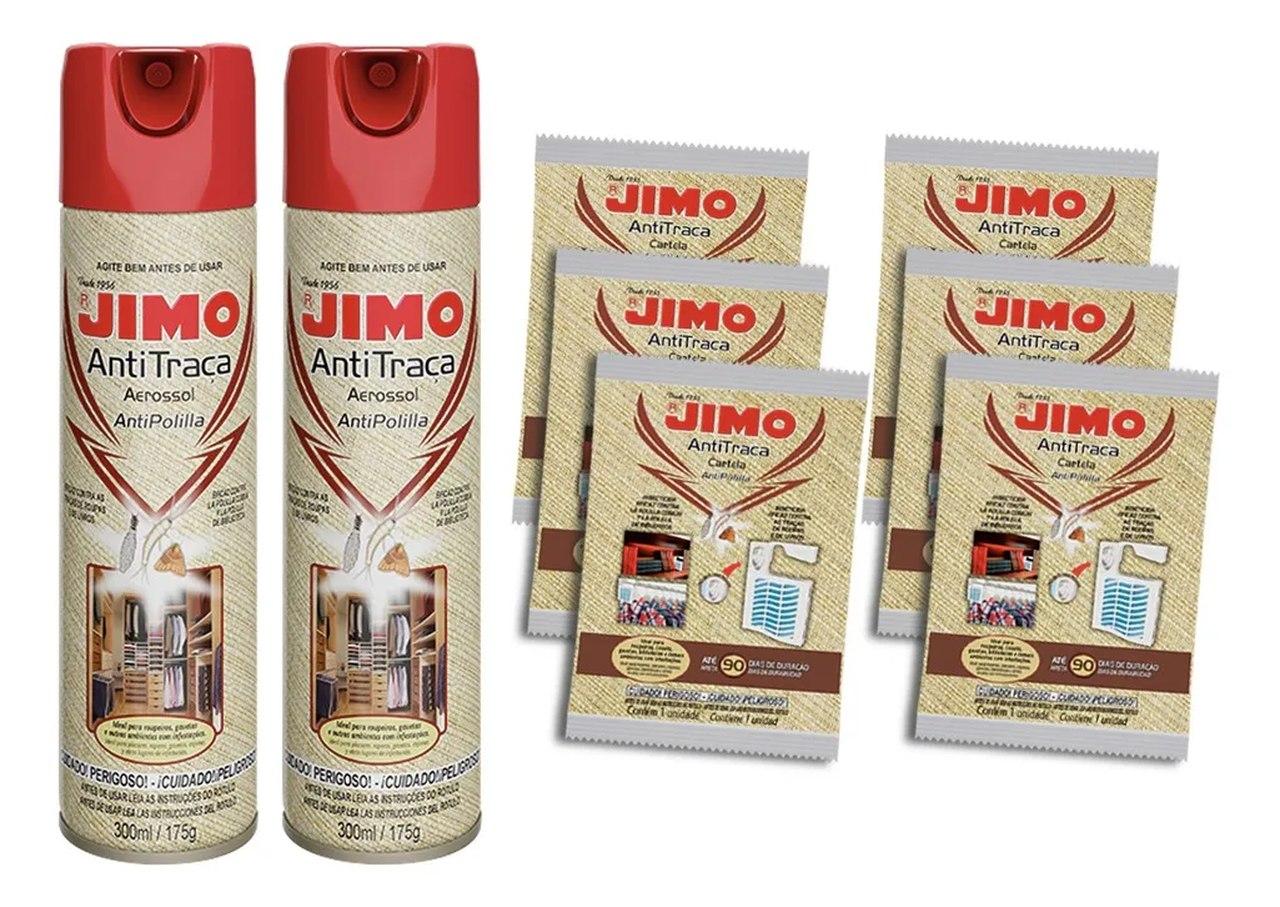 Kit 2 Anti Traça Jimo 300ml + 6 Cartelas Anti Traça Jimo  - Ul Brasil