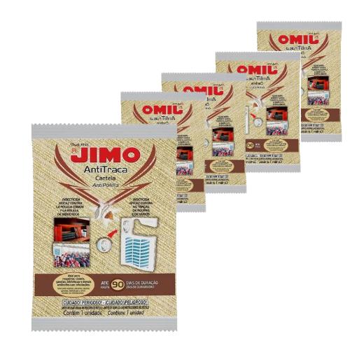 Kit Com 5 Unidades De Anti Traça Cartela Jimo  - Ul Brasil