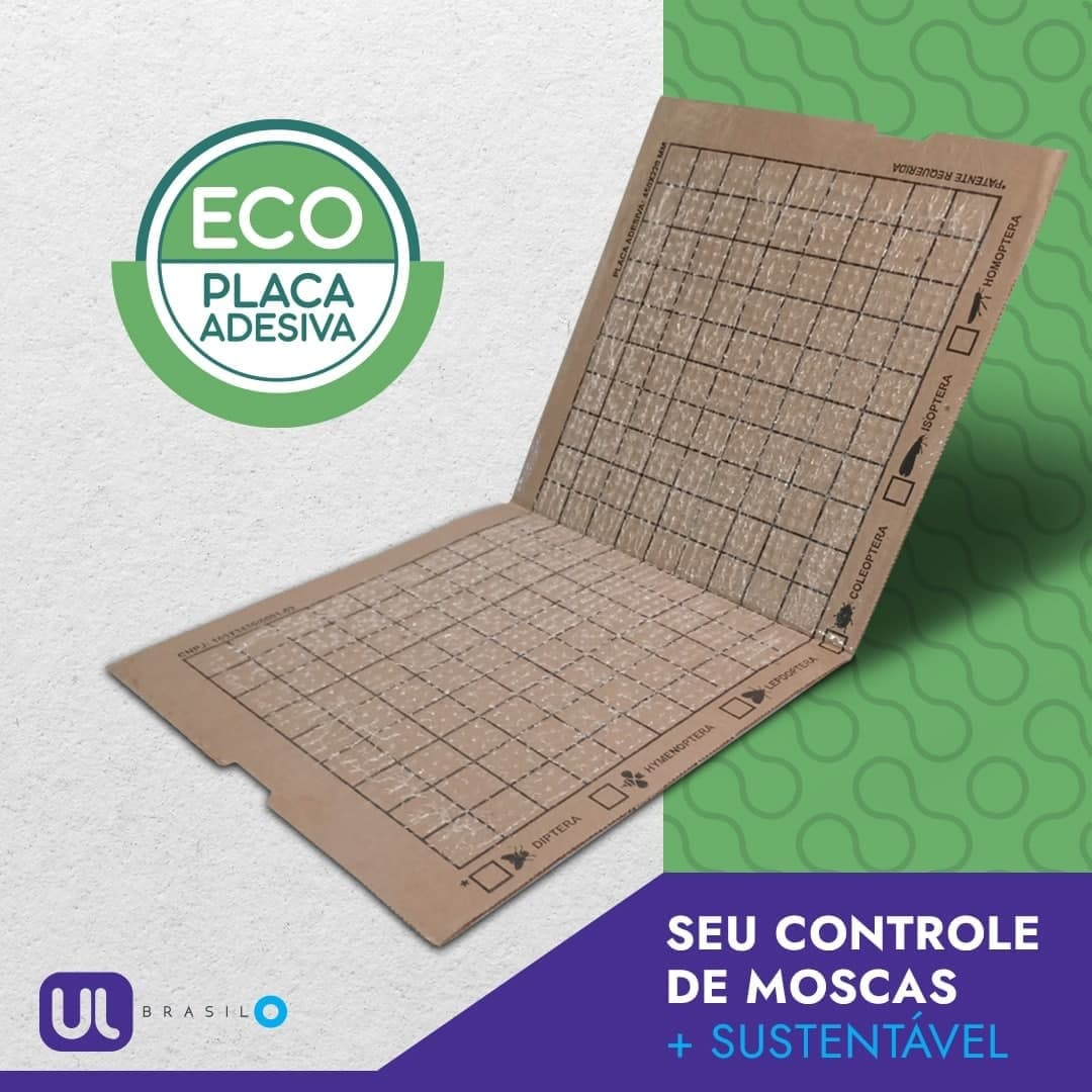 Placa Adesiva ECO - Refil 450 x 220mm (Pacote com 10 unidades).  - Ul Brasil