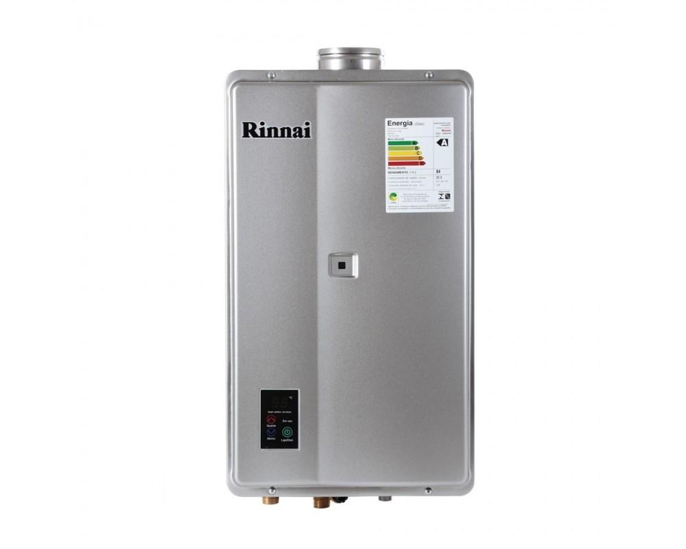 Aquecedor a Gás REU-2402 FEH Prata  - 32,5 litros