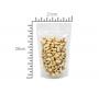 Saco Embalagem Stand Up Pouch | 21 x 28+5 | Transparente - Fecho ZipLock | 100 UNID.