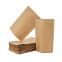 Saco Stand Up Pouch Papel Kraft  17x23 +3- Fecho ZipLock | c/ 100