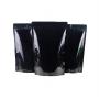 Saco Stand-Up Pouch -  Preto Laminado - 12,5 x 19+3 cm - c/  Zip Lock