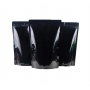 Saco Stand-Up Pouch -  Preto Laminado - 30 x 43+6 cm - c/  Zip Lock