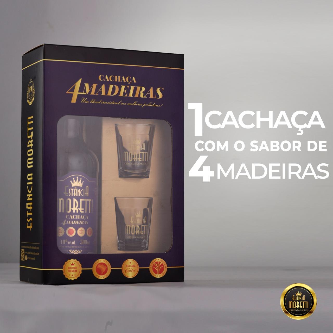 Kit Cachaça 4 Madeiras