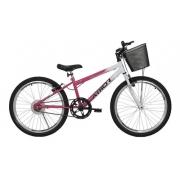 Bicicleta Infantil Aro 24 Athor Model Feminina Com Cestão