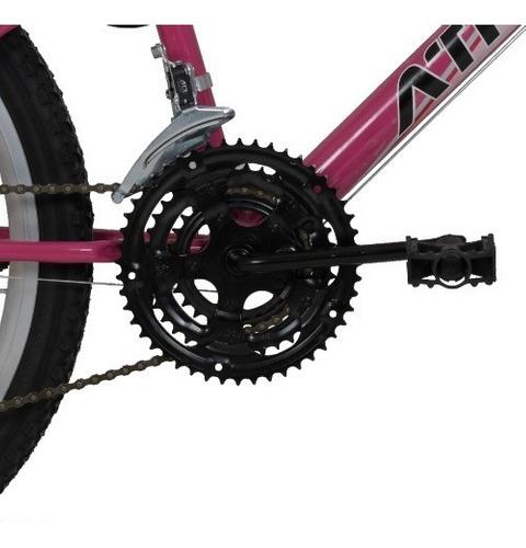 Bicicleta Aro 24 Feminina Athor Model 18 Marchas Com Cesta