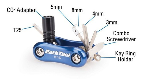 Canivete Park Tool Mt-20 9 Funções Allen Conjunto
