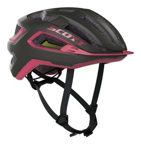 Capacete Scott Arx Plus (ce) Cinza Escuro/rosa 2020