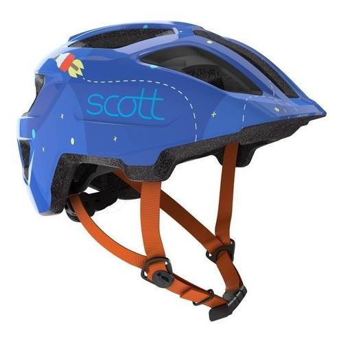 Capacete Scott Spunto Infantil (ce) - Azul/laranja (46-52cm)
