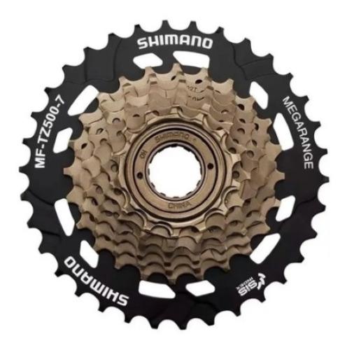 Catraca Roda Livre Rosca Shimano Tz500 Bike 14/34d 7v