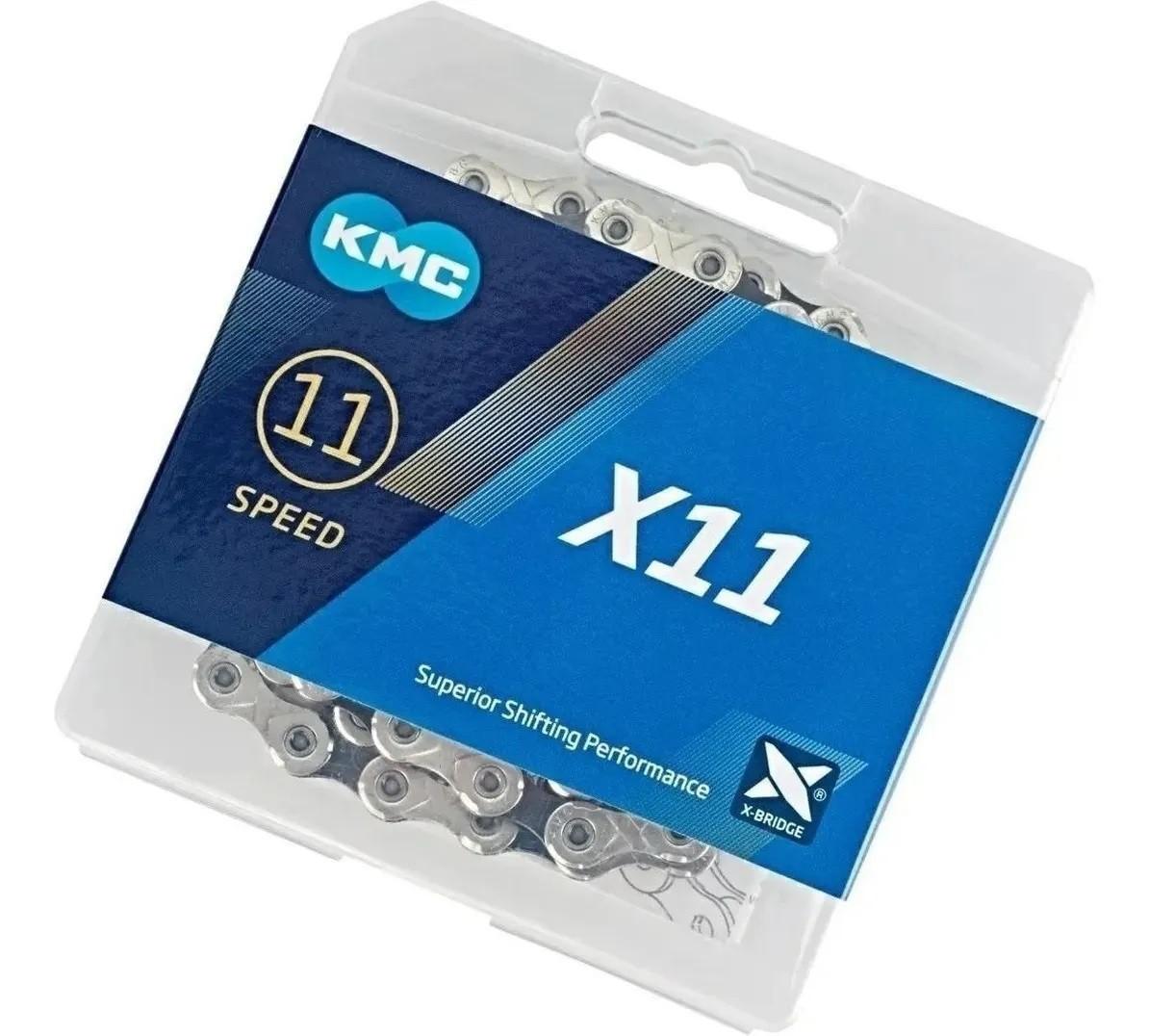 Corrente KMC X11 Silver 11V - Power Link 118 Elos