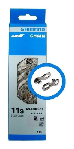 Corrente Shimano E8000 11V E-bike Mtb 116 Elos + Quick Link