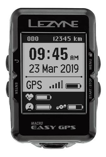 Gps Lezyne Macro Easy Ciclocomputador Ciclismo - Bluetooth
