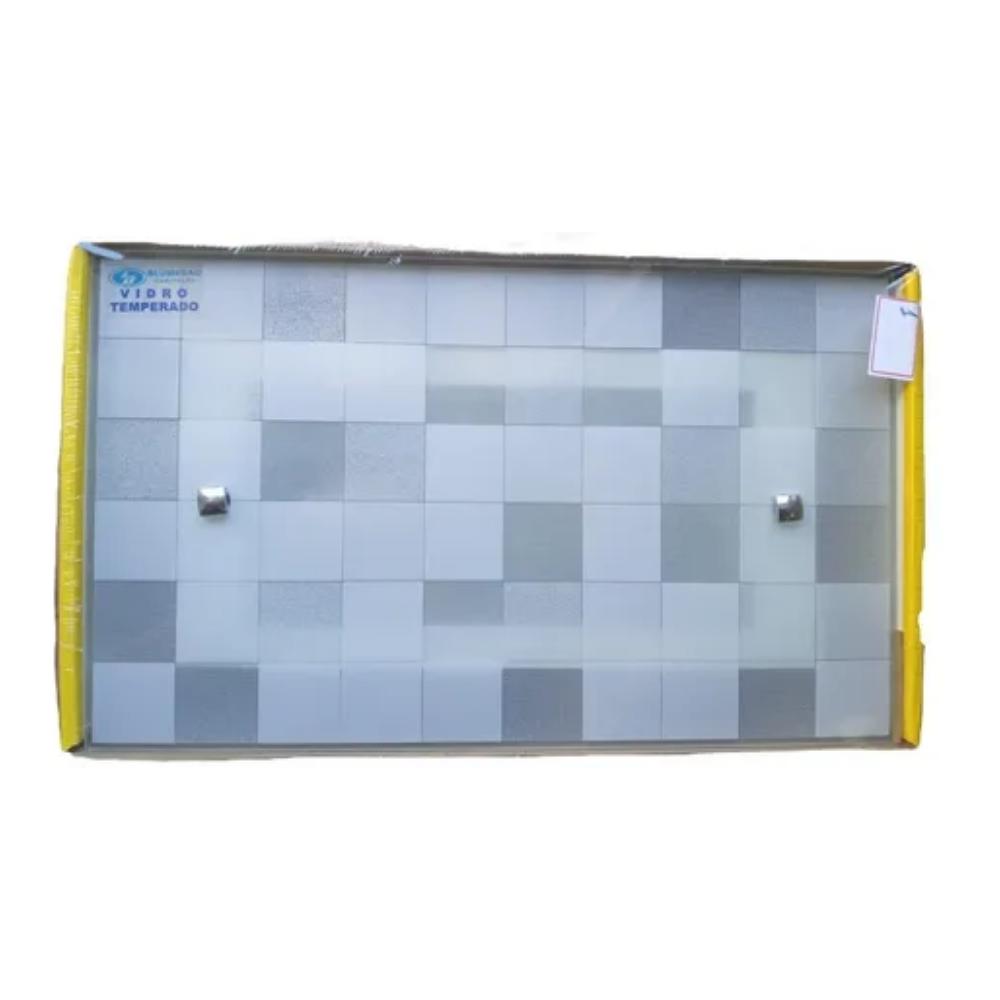 Arandela Flex Retangular 1xe27 Quartzo Branco Blumenau