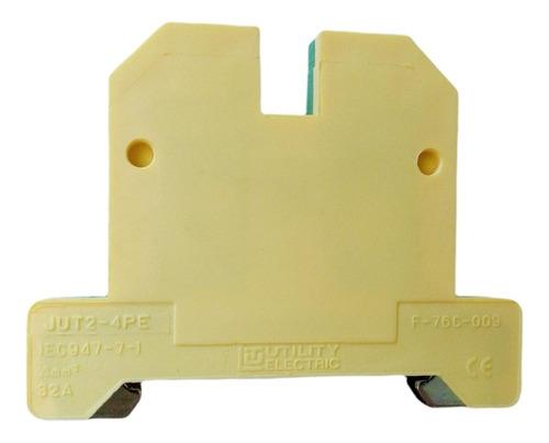 Borne Terra (verde/amarelo) Jut2-10pe P/cabo 4mm² Sibratec