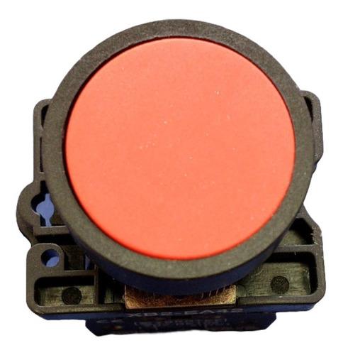 Botão De Impulso Plástico com Bloco Removível Vermelho 220v