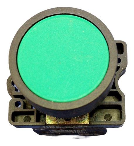 Botão De Impulso Plástico Sibratec Xb2-ea31 Verde 1na