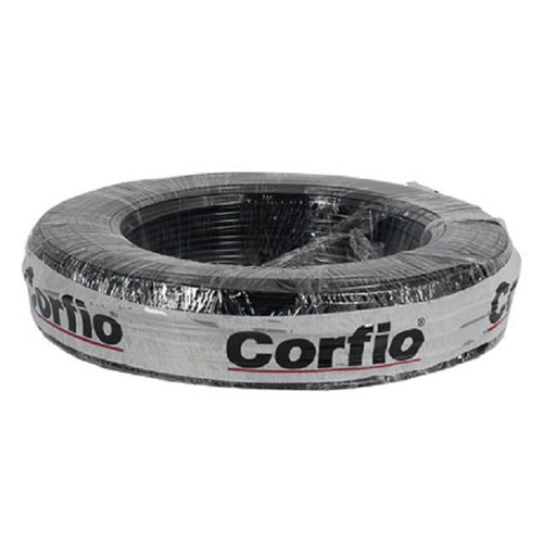 Cabo Flexível PP Corfio 500V 2x1,5mm Preto Rolo com 35 Metros