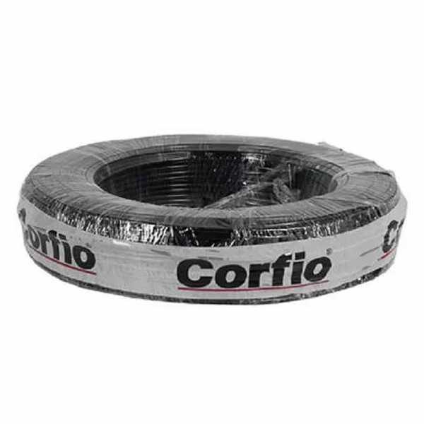 Cabo Flexível PP Corfio 500V 2x2,5mm Preto Rolo com 20 Metros