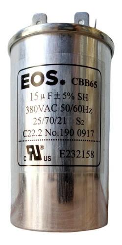 Capacitor 15 Mfd 380vac EOS P/ar Condicionado Split com Terminal 40x70