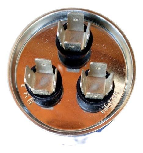 Capacitor 45+1.5 Mfd 440 Vac EOS com Tterminal Alumínio 50x100
