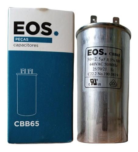 Capacitor 50+2.5 MFD 440vac EOS Para Ar Condicionado Split