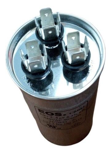 Capacitor Ar Condicionado Split 45+2.5 Uf 440v com Terminal Duplo 50x100 EOS