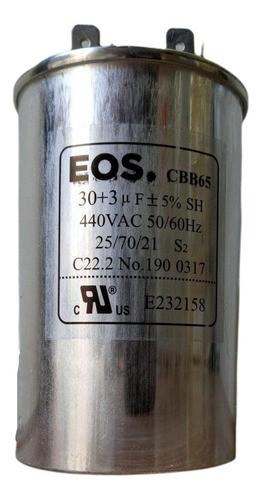 Capacitor De Partida Ar Condicionado Split 30+3uf 440V com Terminal Duplo 50x105