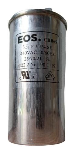 Capacitor Duplo 35 Mfd 380v EOS Com Terminal Alumínio