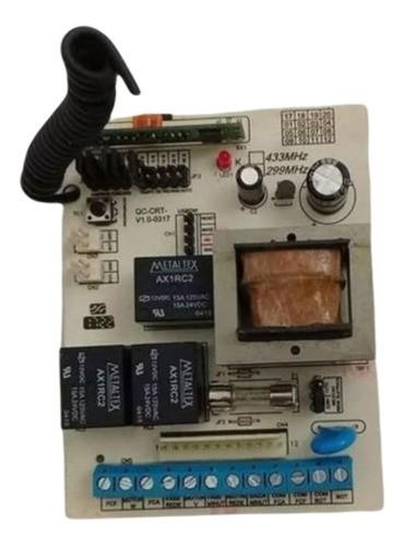 Central +1 Controle Portão Chicote 12 Vias 299 Mhz