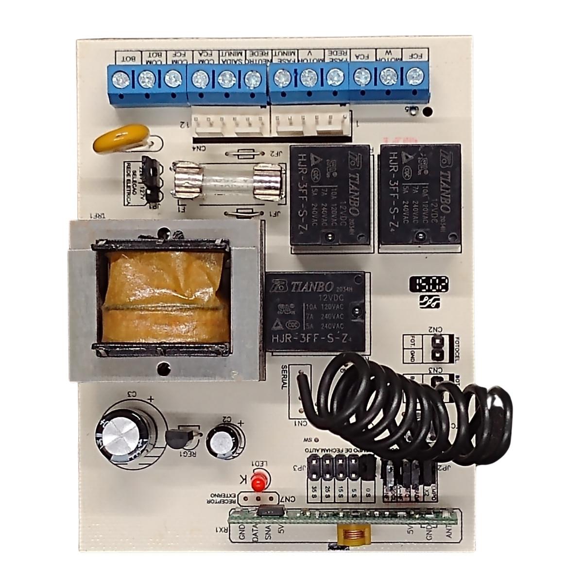 Central de Comando Para Portão + 2 Controles 299MHz