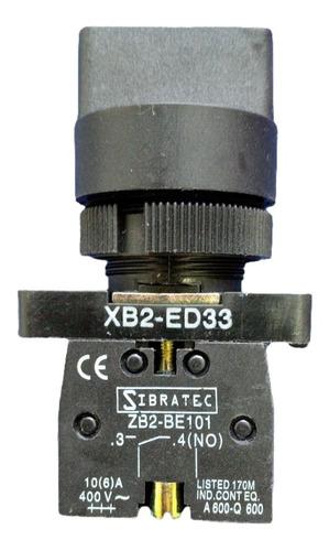 Chave Comutadora Seletora Xb2ed33 Liga Desliga Manopla 5a