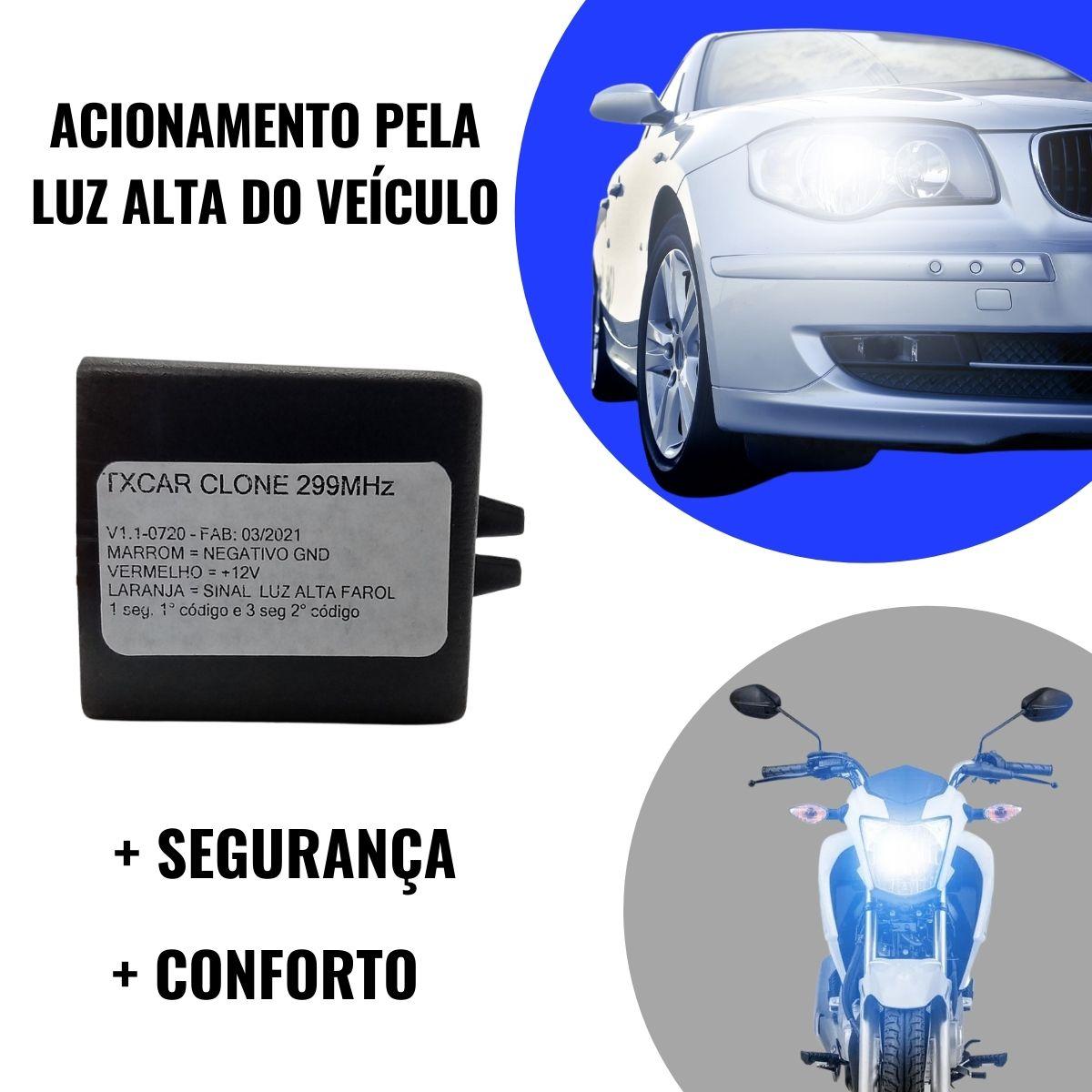 Cod Light/tx Car Fixo 299mhz Codificação Por Corte De Trilha Clonador