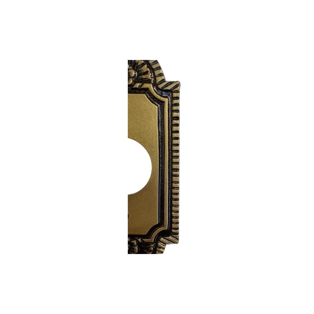 Espelho Decorativo Colonial Vintage Retrô para Tomada Redonda