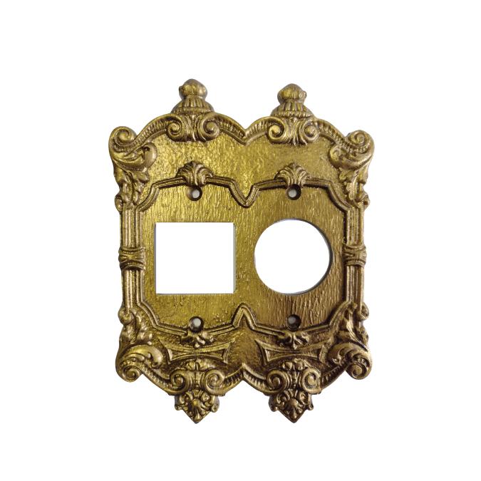 Espelho Placa Chapinha Decoração Vintage Retrô Tomada Redonda