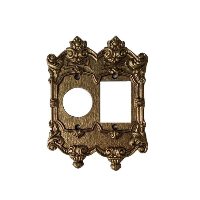 Espelho Placa Decoração Vintage Retrô Tomada Plástico 4x4