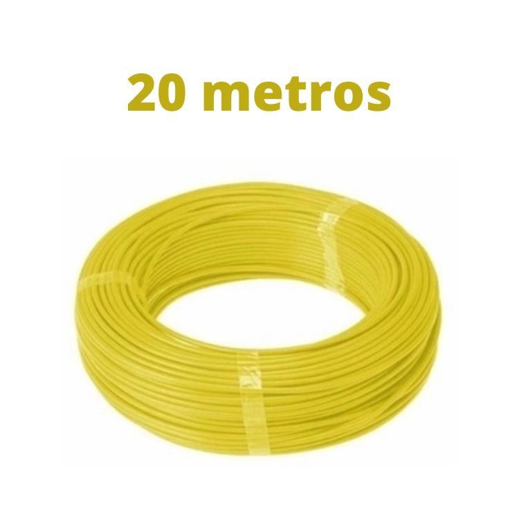 Fio Cabo Flex 750V 1 x 1,5mm Nambeiflex Amarelo Rolo de 20 Metros