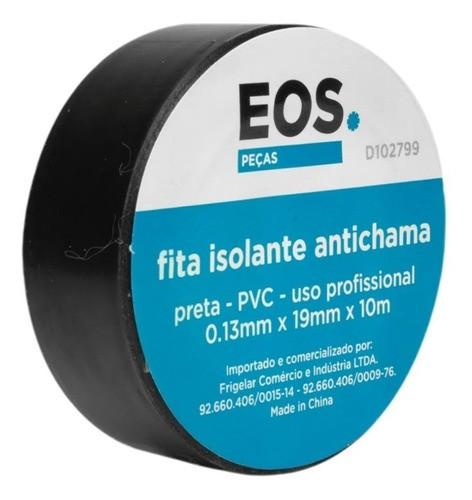 Fita Isolante PVC Para Reparos Elétricos 19mmx10m Preto EOS