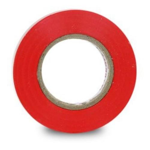 Fita Isolante Pvc Reparos Elétricos 19mm X 20m Vermelha