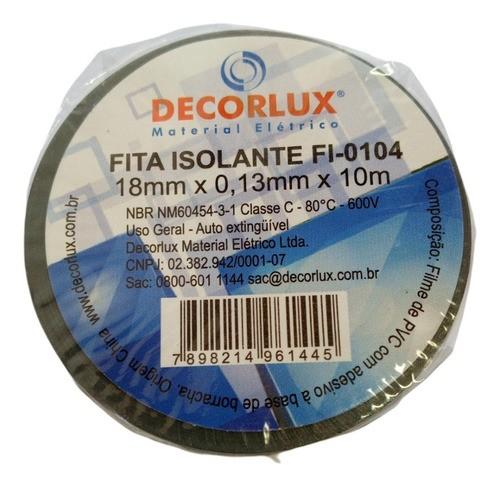 Fita Isolante Pvc Reparos Elétricos 19mmx10m Cinza Uso Geral