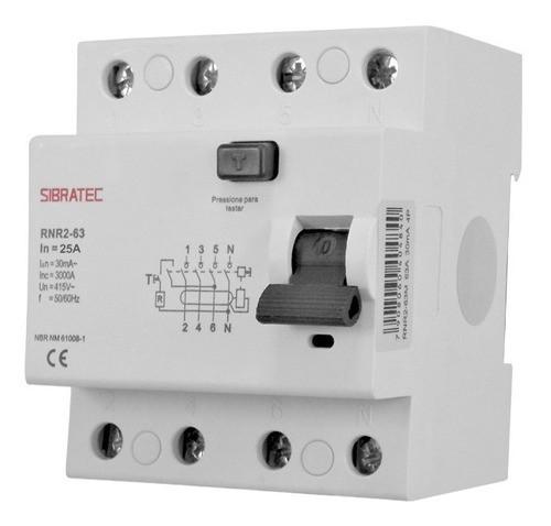 Interruptor Diferencial Dr Tetrapolar De 25a 30ma 50/60hz