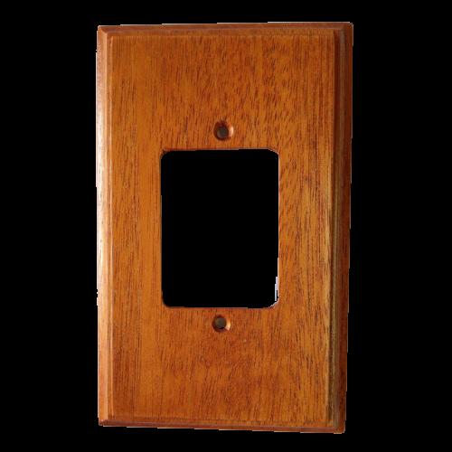 Kit 10 Placas Espelho 4X2 em Madeira Para 3 Teclas Mogno