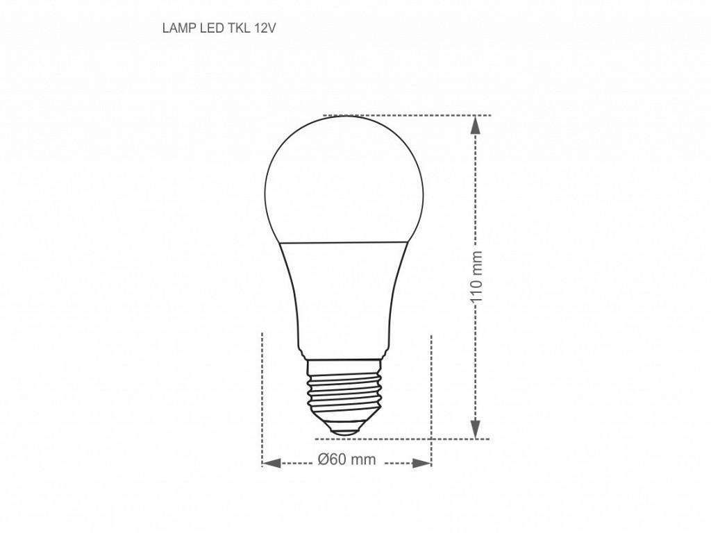 Lâmpada LED Taschibra 12V 4,9W 3000K Luz Quente E27