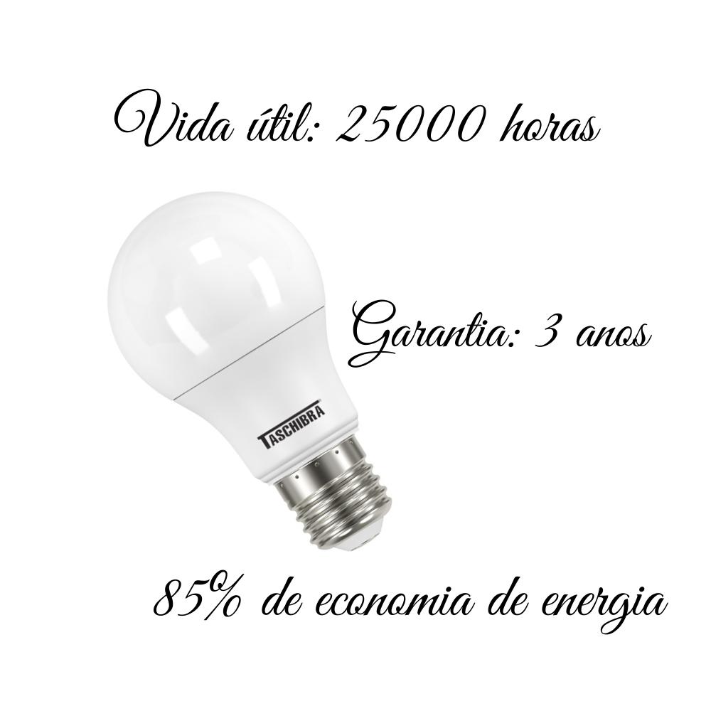 Lâmpada LED Taschibra 12W 6500K Luz Fria E27